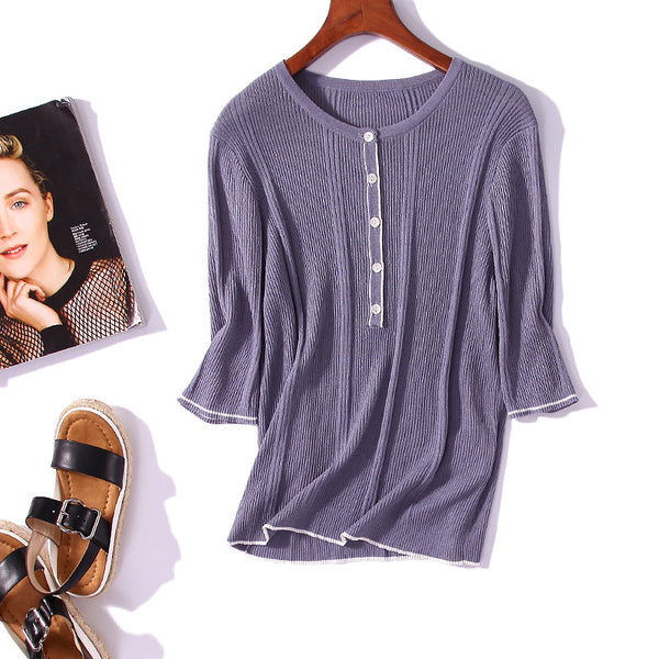 Women's Five-point Sleeve Bottoming Shirt