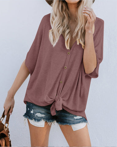 Women's Cardigan T-Shirt Bottoming Shirt
