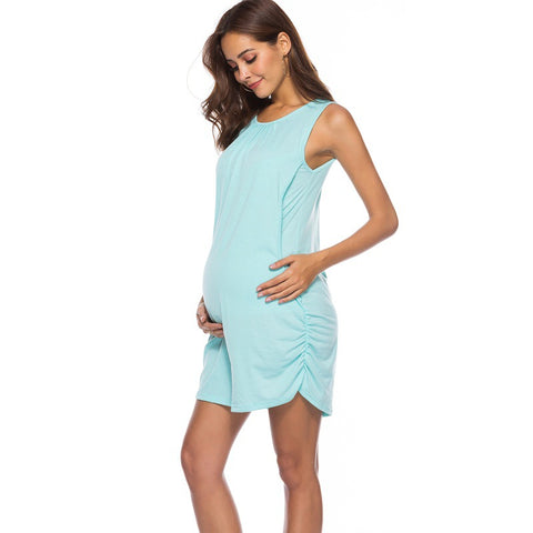 Round Neck Short Sleeve Maternity Vest