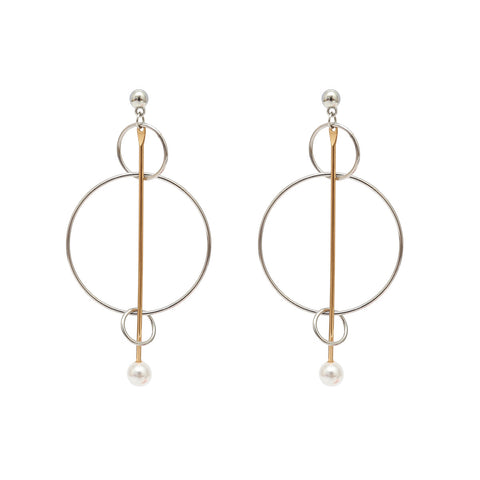 Exaggerated Tide Models Creative Golden Earrings Jewelry