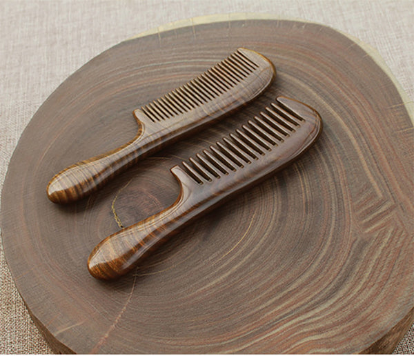 Green Sandalwood Wooden Comb