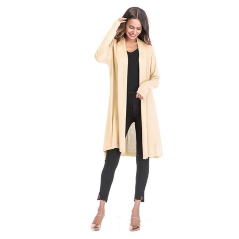 Women's Thin Hollow Solid Color Drape Cardigan