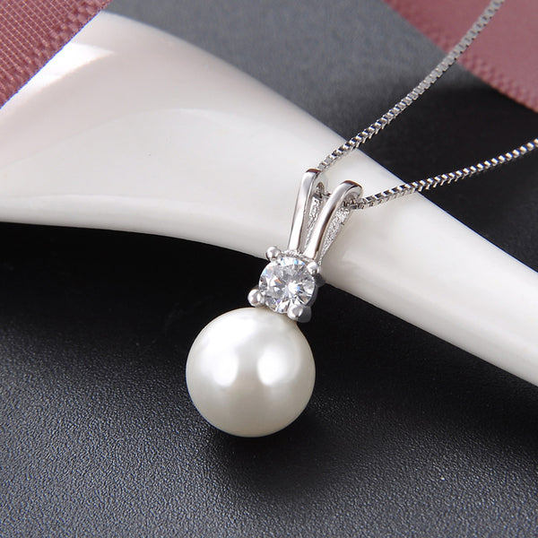 Natural Pearl Silver 925 Necklace