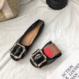 Shallow Mouth Square Buckle Comfortable Shoes