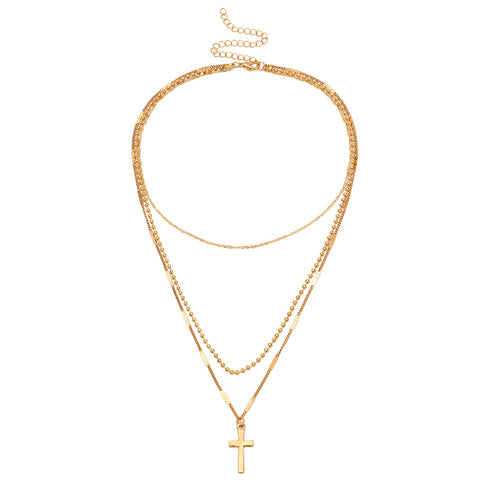 Multi-layer Female Fashion Simple Wild Clavicle Chain Necklace