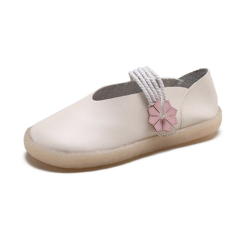 Round Head Soft Bottom Flat Student Retro Shoes