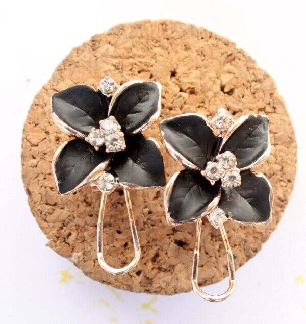 Women's Crystal Stud Flower Earrings