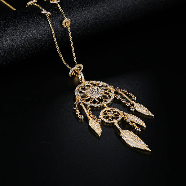 Dream Catcher Gold Tide Necklace Jewelry