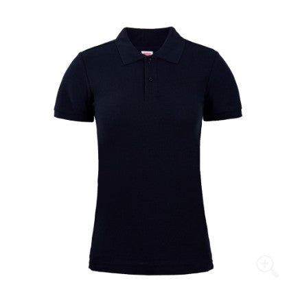 Solid Color Female Models Cotton Polo Shirt