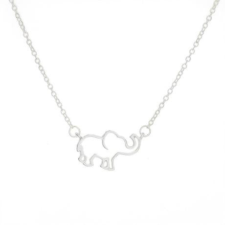 Origami Elephant Pendant Necklace For Women Perfect Daily Wear Chain Jewelry