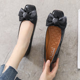 Flat Peas Bow Shoes