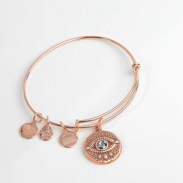 Rose Devil Eye Pendant Bracelet