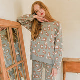 Long-Sleeved Round Neck Comfortable Warm Home Suits