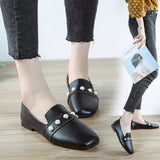 Professional Round Head Low-heeled Patent Leather Single Shoes
