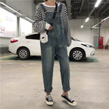 Women's Loose Bib Jeans