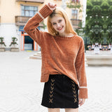 Women's Thick Warm Round Neck Sweater