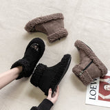 Winter New Cotton Short Tube Women's Boots With Velvet