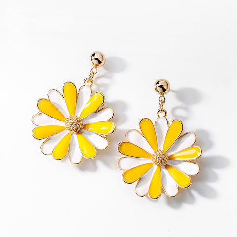 Silver 925 Needle Daisy Earrings Stud Earrings