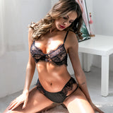 Women's New Lace Stitching Sexy Lingerie