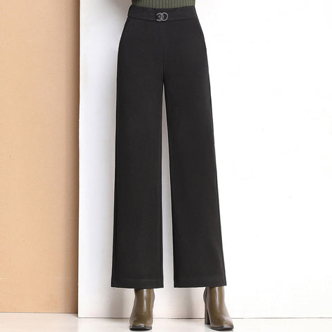 Women's Woolen Wide Leg Trousers