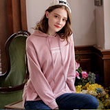 Women's Fashion Split Hooded Sweater