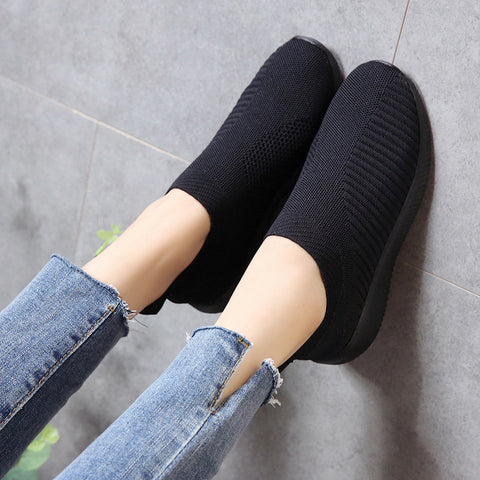 Casual Flat Shoes Light & Breathable Round Head