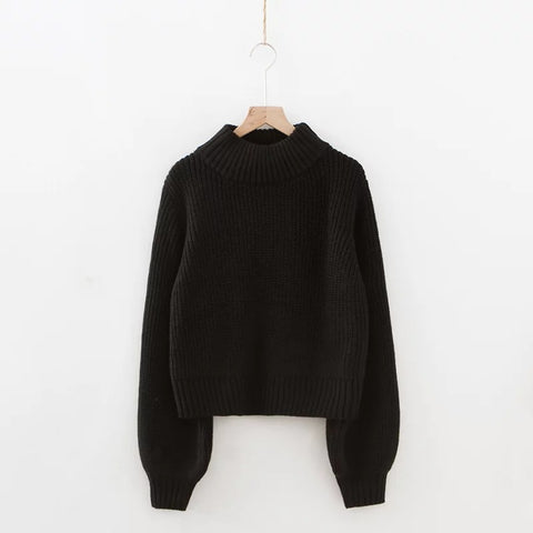 Women's Loose High Collar Bottoming Sweater