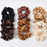 12Pcs Satin Scrunchies