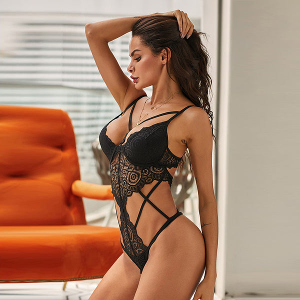 Sexy Black Push Up Lace Lingerie