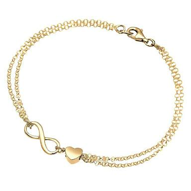 Love Infinity Heart-shaped Chain bracelet for Women
