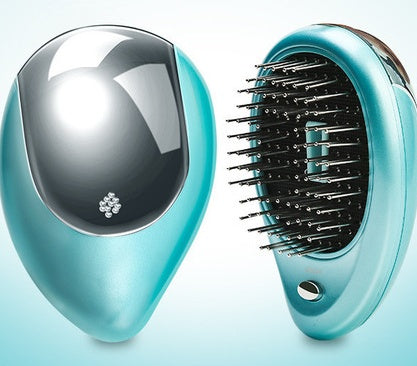 Women's Mini Massager Portable Comb with Vibrating Effect