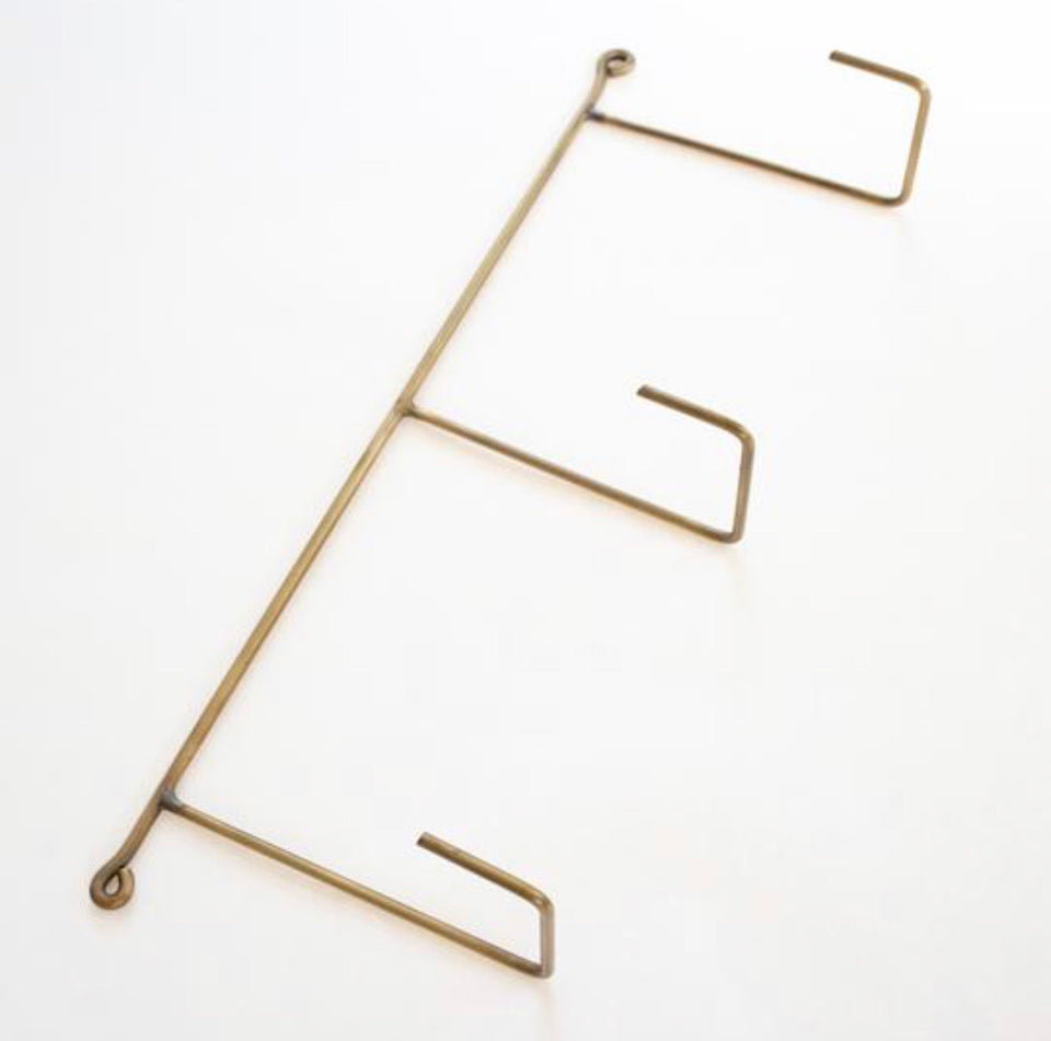Brass Fitting - Triple Hook Rack