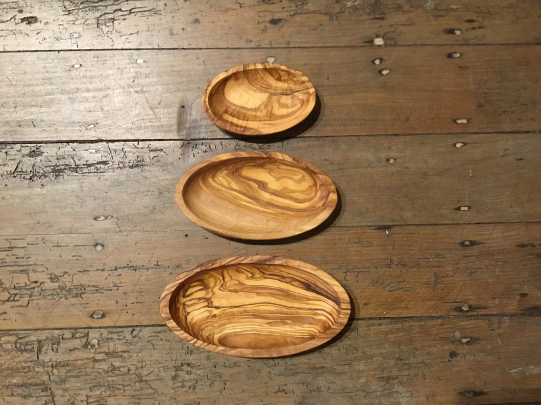 Olive Wood Trio Server Set