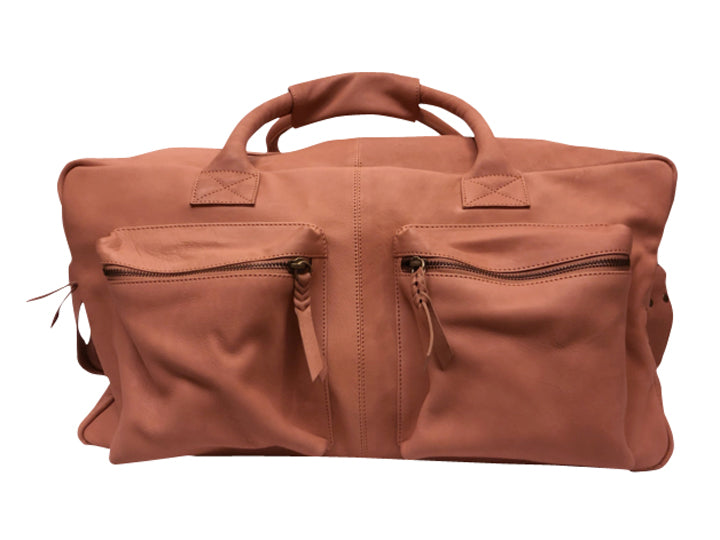 Handmade leather luggage bag