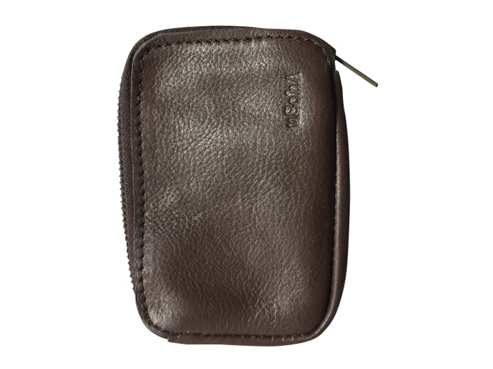 Handmade leather pouch wallet