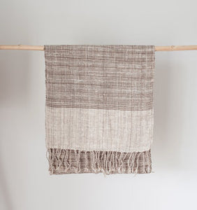 Mekong Clay and Natural Cotton Scarf