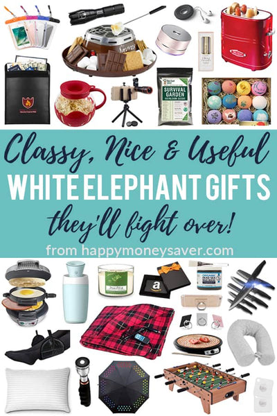 30 Classy, Nice & Useful White Elephant Gifts they will fight for!!
