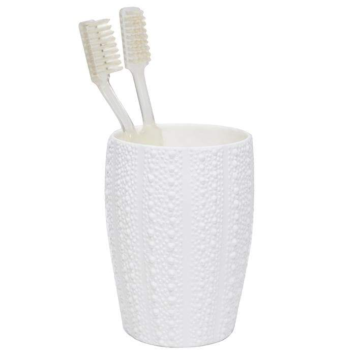 Hilo White Porcelain Brush Holder