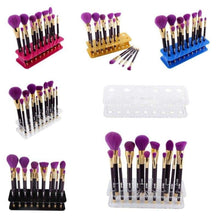Load image into Gallery viewer, 15 Hole Makeup Brush Holder Rack Organizer Cosmetic Toothbrush Storage Stand Box