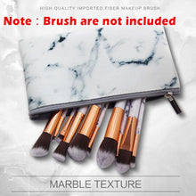 Load image into Gallery viewer, 1Pcs Marbling PU Brush Bag Makeup Case Marble Cosmetic Handbag Pouch Beauty Make Up Brush Holder +