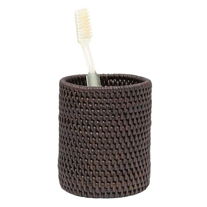 Dalton Coffee Rattan Brush Holder