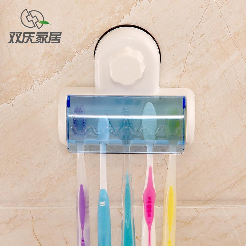 1pcs New Plastic Dust-proof Toothbrush Holder Bathroom Kitchen Family Toothbrush Suction Cups