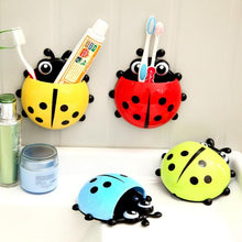 Load image into Gallery viewer, 2 Pcs Creative Toothpaste Holder Ladybug cute Toothbrush Holder Suction Home Minion Toothbrush Holder Plastic Holding Toothbrush
