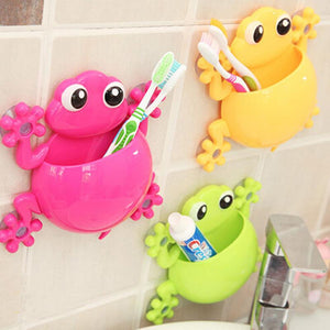 2016 Creative Bathroom Products Sets Cartoon Gecko Toothbrush Toothpaste Holder Wall Sucker Suction Hook Tooth Brush Holder