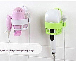Latest eluugie hair dryer wall mounted lock suction cup hair dryer holder hair drier storage organizer hair blower holder whtie white