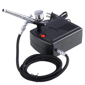 Pro Makeup Airbrush Kit 0.3mm Dual-Action Spray Gun Air Compressor