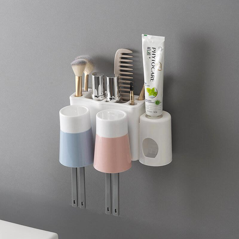 Automatic Toothpaste Dispenser Holder Family Rack