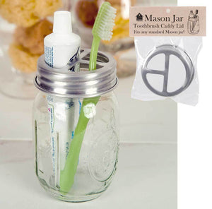 Mason Jar Toothbrush Holder Lid (Set of 4)