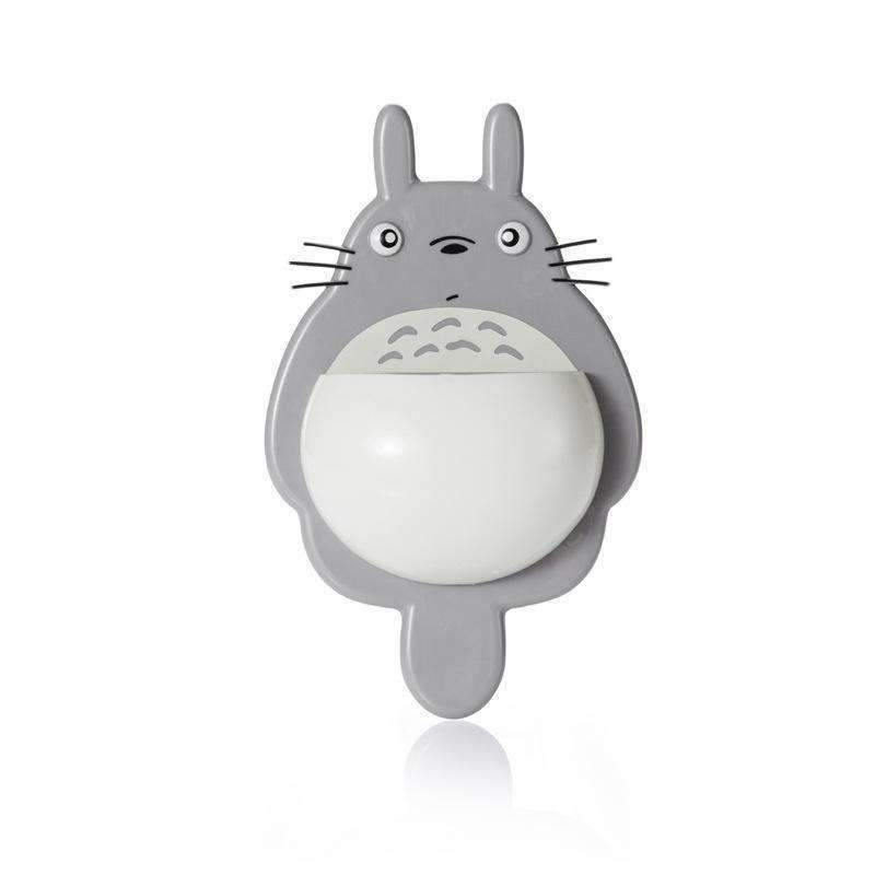 Totoro Toothbrush Holder Strong Sucker Multifunctional Bathroom Wash Toothpaste Toothbrush Storage Rack