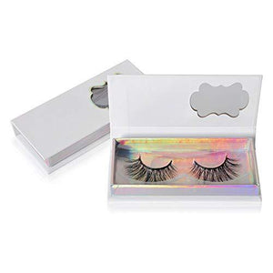 1 Pair False Eyelash Care Storage Case Box Compartment Tool Container Holder (White)
